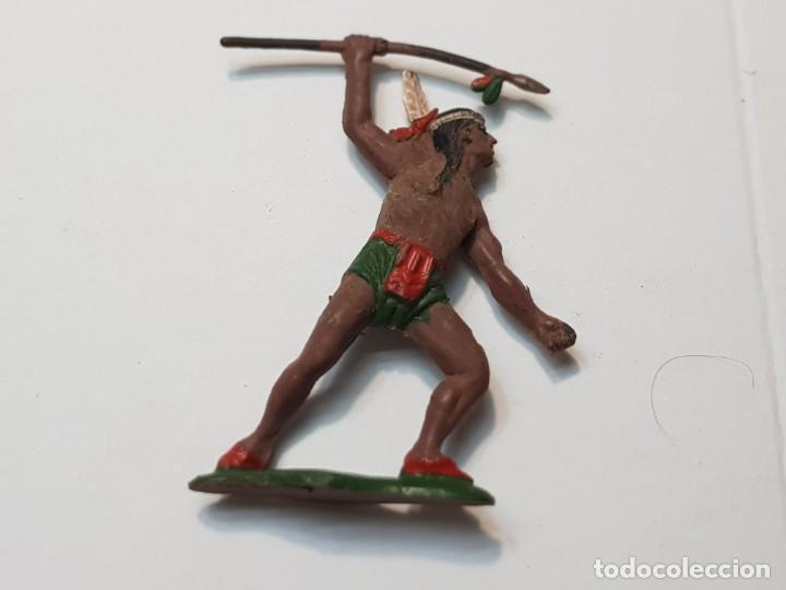 FIGURA GUERRERO INDIO CON LANZA EN GOMA TEIXIDO (Juguetes - Figuras de Goma y Pvc - Teixido)