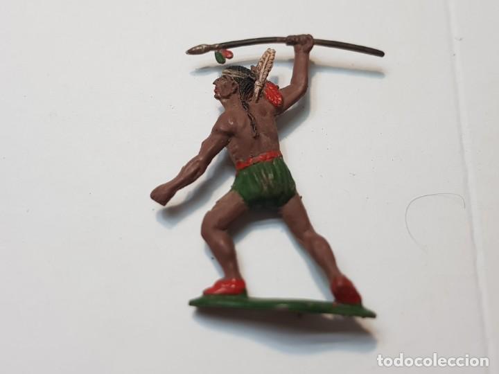 Figuras de Goma y PVC: Figura Guerrero Indio con Lanza en Goma Teixido - Foto 2 - 217041682