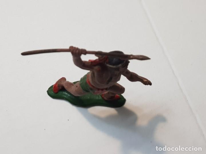 Figuras de Goma y PVC: Figura Guerrero Indio con Lanza en Goma Teixido - Foto 3 - 217041682