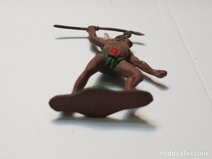 Figuras de Goma y PVC: Figura Guerrero Indio con Lanza en Goma Teixido - Foto 4 - 217041682