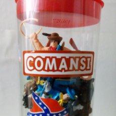 Figuras de Goma y PVC: TUBO CON FIGURAS Y COMPLEMENTOS COMANSI. Lote 217084288