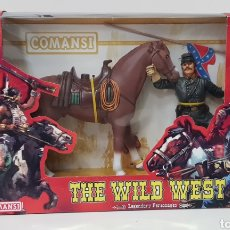 Figuras de Goma y PVC: THOMAS CROGHAM THE WILD WEST FIGURA PVC COMANSI WESTERN OESTE CON SU CAJA NUEVO HEROES WEST. Lote 217180661