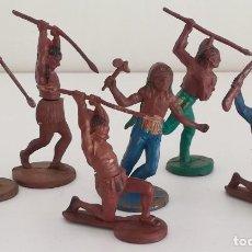 Figuras de Goma y PVC: LOTE FIGURAS DE GOMA INDIOS DESMONTABLES GAMA. Lote 217222621