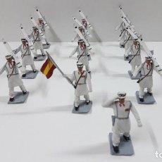 Figuras de Goma y PVC: DESFILE DE ESQUIADORES - TROPAS DE MONTAÑA . REALIZADOS POR SOLDIS . ORIGINAL AÑOS 70. Lote 217238992