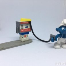 Figuras de Goma y PVC: GASOLINERA DE LOS PITUFOS - PETROL CO - SUPER - SCHLEICH. Lote 217342406