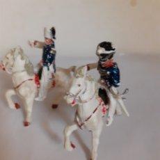 Figuras de Goma y PVC: LAFREDO,SOLDADOS NAPOLEONICOS,OFICIAL Y LANCERO PLASTICO. Lote 217524700