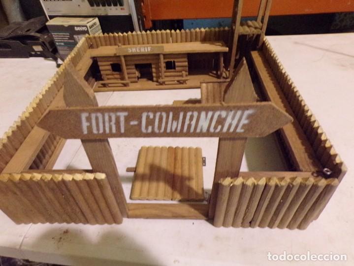 Figuras de Goma y PVC: raro fuerte fort comanche basado en la pelicula de 1961 madera casa pech tipo jecsan - Foto 3 - 217528795