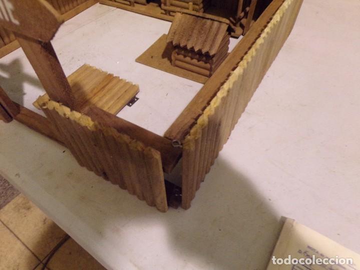 Figuras de Goma y PVC: raro fuerte fort comanche basado en la pelicula de 1961 madera casa pech tipo jecsan - Foto 4 - 217528795