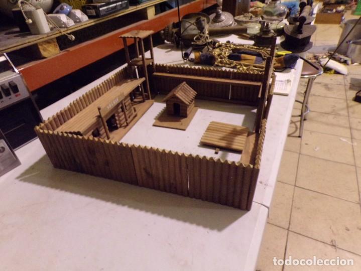 Figuras de Goma y PVC: raro fuerte fort comanche basado en la pelicula de 1961 madera casa pech tipo jecsan - Foto 5 - 217528795