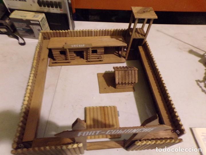 Figuras de Goma y PVC: raro fuerte fort comanche basado en la pelicula de 1961 madera casa pech tipo jecsan - Foto 6 - 217528795