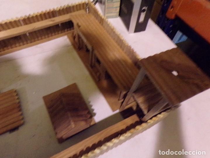 Figuras de Goma y PVC: raro fuerte fort comanche basado en la pelicula de 1961 madera casa pech tipo jecsan - Foto 7 - 217528795