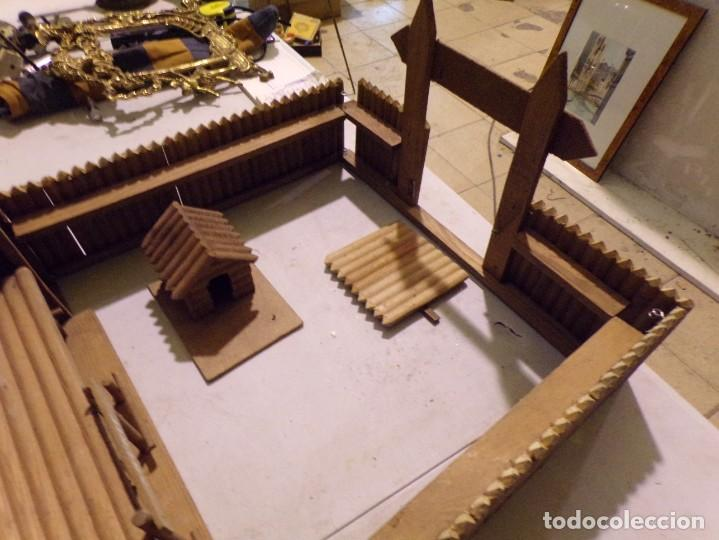 Figuras de Goma y PVC: raro fuerte fort comanche basado en la pelicula de 1961 madera casa pech tipo jecsan - Foto 8 - 217528795