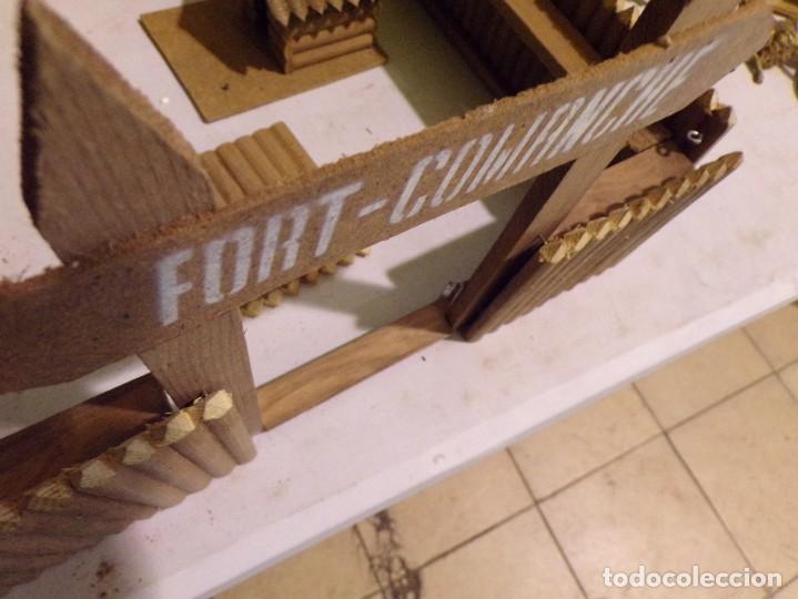Figuras de Goma y PVC: raro fuerte fort comanche basado en la pelicula de 1961 madera casa pech tipo jecsan - Foto 10 - 217528795