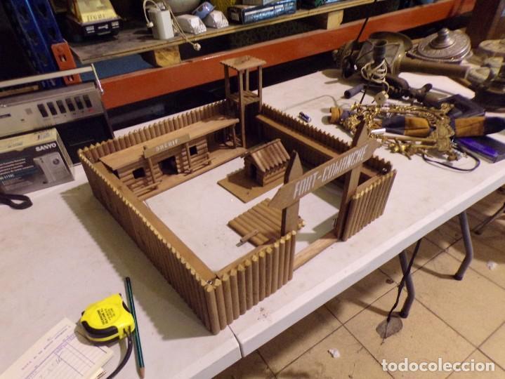 Figuras de Goma y PVC: raro fuerte fort comanche basado en la pelicula de 1961 madera casa pech tipo jecsan - Foto 11 - 217528795
