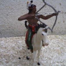 Figuras de Goma y PVC: INDIO Y CABALLO DE COMANSI. Lote 217554075