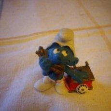 Figuras de Goma y PVC: PITUFO SCHLEICH 1980 PEYO CON TELEFONO SMURFS SCHLUMPFE SCHTROUMPFS. Lote 217584926