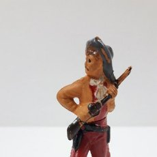 Figuras de Goma y PVC: VAQUERO . REALIZADO POR GAMA . ORIGINAL AÑOS 50 EN GOMA. Lote 217599677