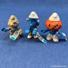 Figuras de Goma y PVC: PITUFO - LOTE 3 PITUFOS HALLOWEN - MOMIA - CALABAZA Y FRANKESTEIN - SCHLEICH - NUEVOS. Lote 217714786