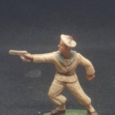 Figuras de Goma y PVC: SOLDADO DE LA MARINA DISPARANDO STARLUX. Lote 217832238