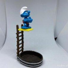 Figuras de Goma y PVC: PITUFOS PVC - SCHLEICH - PEYO - TRAMPOLIN. Lote 208073755