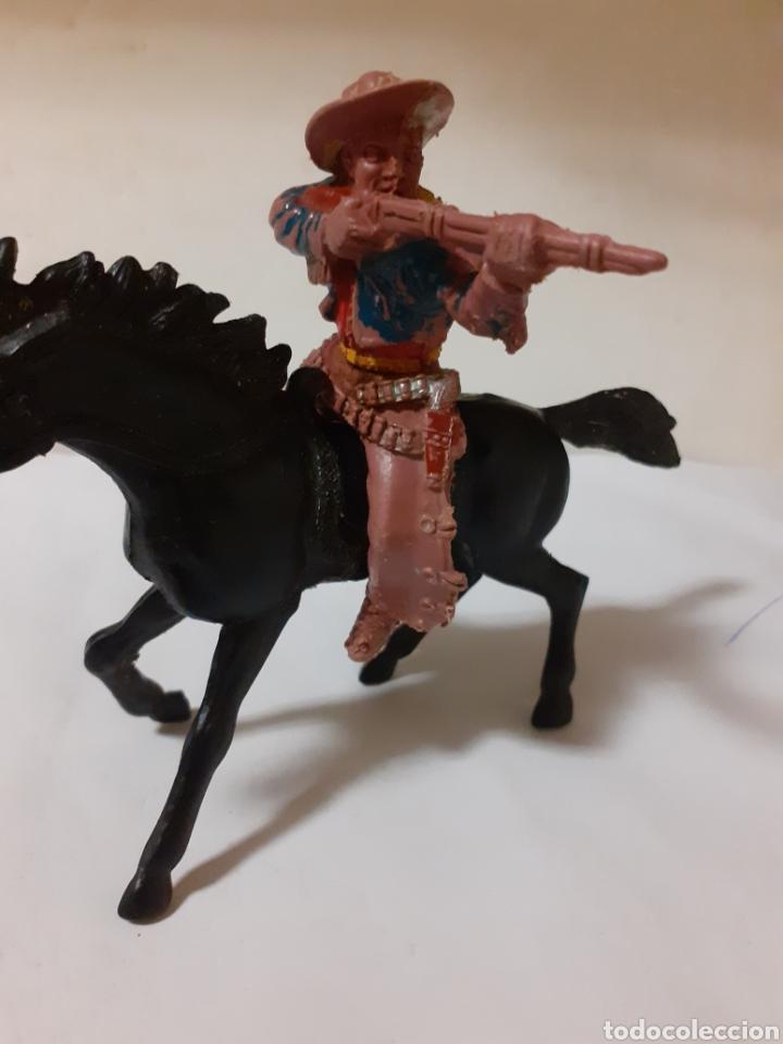 Figuras de Goma y PVC: FIGURA VAQUERO A CABALLO CREO LAFREDO PLASTICO - Foto 4 - 217941386
