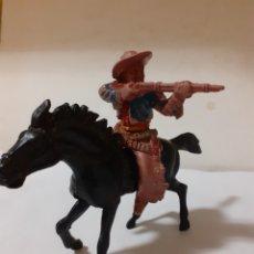 Figuras de Goma y PVC: FIGURA VAQUERO A CABALLO CREO LAFREDO PLASTICO. Lote 217941386