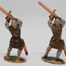 Figuras de Goma y PVC: FIGURAS REAMSA 2 CRUZADOS MEDIEVAL CORAZÓN DE LEÓN REF 193. Lote 88965344