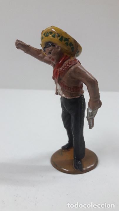 Figuras de Goma y PVC: MEJICANO CHARRO . REALIZADO POR GAMA . SERIE CHARROS . ORIGINAL AÑOS 50 EN GOMA - Foto 4 - 217981976