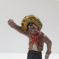 Figuras de Goma y PVC: MEJICANO CHARRO . REALIZADO POR GAMA . SERIE CHARROS . ORIGINAL AÑOS 50 EN GOMA. Lote 217981976