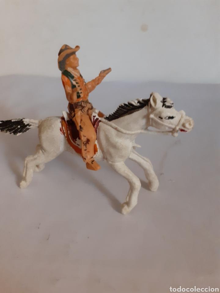 Figuras de Goma y PVC: FIGURA VAQUERO A CABALLO PLASTICO REAMSA,JECSAN,PECH - Foto 2 - 217997720