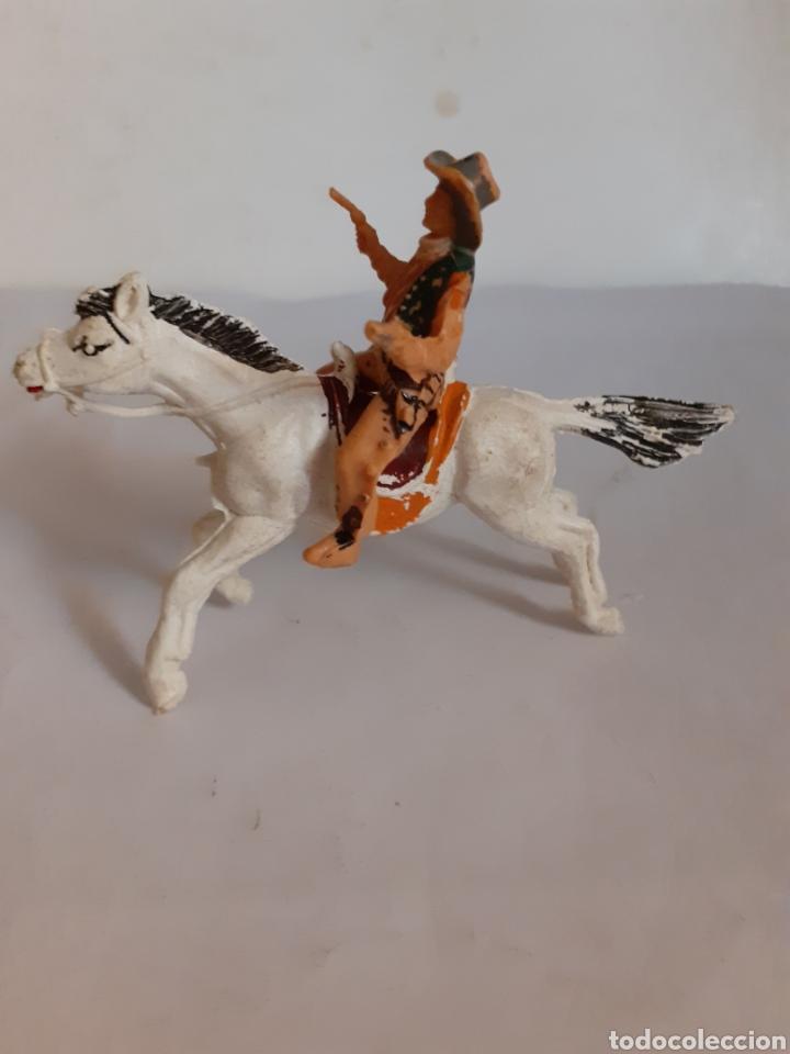 Figuras de Goma y PVC: FIGURA VAQUERO A CABALLO PLASTICO REAMSA,JECSAN,PECH - Foto 3 - 217997720
