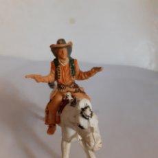 Figuras de Goma y PVC: FIGURA VAQUERO A CABALLO PLASTICO REAMSA,JECSAN,PECH. Lote 217997720