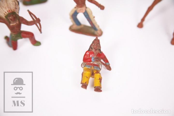 Figuras de Goma y PVC: Conjunto de 5 Caballos y 6 Indios de Goma Sotorres - Años 50-60 - Foto 10 - 218085131