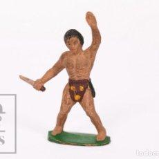 Figuras de Borracha e PVC: FIGURA DE GOMA SOTORRES - TARZÁN - AÑOS 50. Lote 218090197