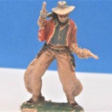 Figuras de Goma y PVC: ANTIGUA FIGURA DEL OESTE. SERIE TEXAS COWBOYS DE REAMSA. PLÁSTICO. 60 MM. AÑOS 60.. Lote 218136015
