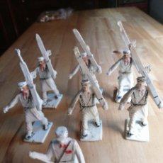 Figuras de Goma y PVC: LOTE 7 ESQUIADORES REAMSA. Lote 218205290