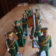 Figuras de Goma y PVC: LOTE 10 GUARDIAS CIVILES REAMSA. Lote 218206255