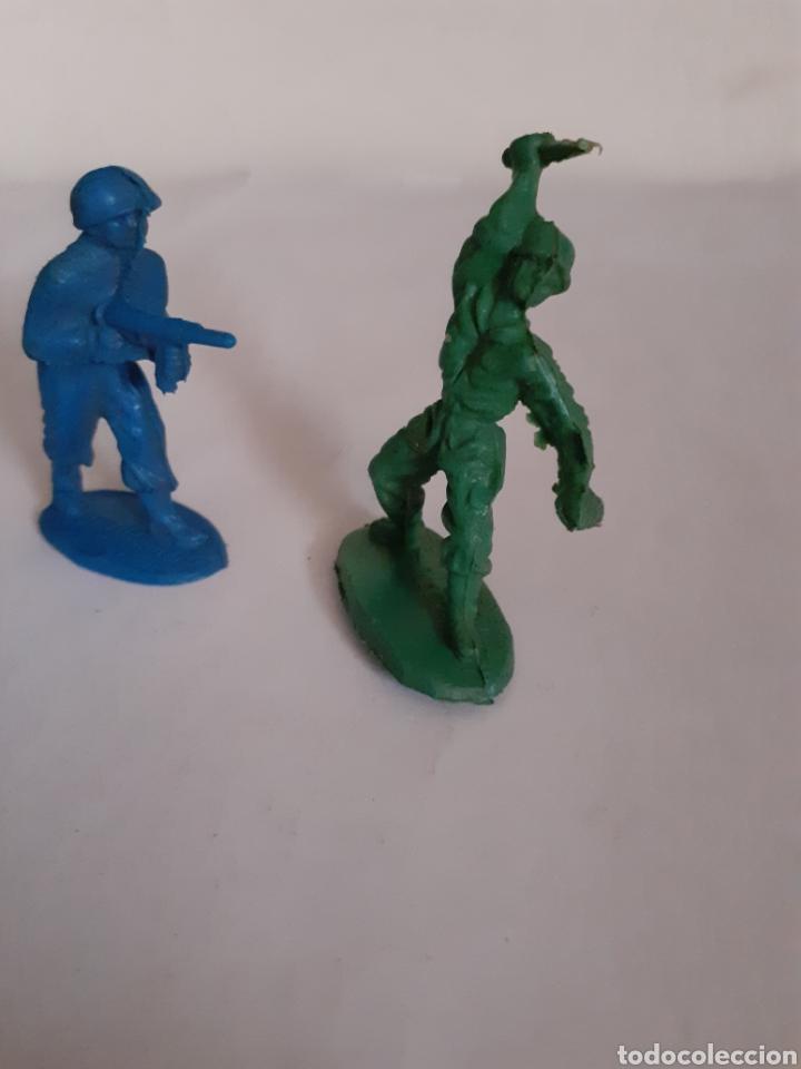 Figuras de Goma y PVC: FIGURAS SOLDADOS AMERICANOS PLASTICO PIPEROS O SIMILAR - Foto 2 - 218221220
