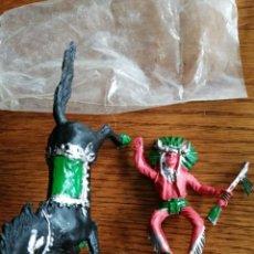Figuras de Goma y PVC: INDIO DE REIGON. NO COMANSI, JECSAN, SOTORRES, LAFREDO. NUEVO EN SU BOLSA. Lote 218403413