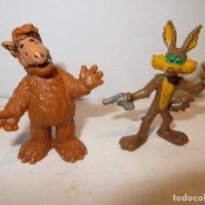 Figuras de Goma y PVC: BULLY LOTE DE ALF Y EL COYOTE MUY BUENN ESTADO,REGALADOS. Lote 218460027