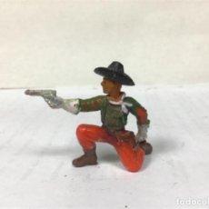 Figuras de Goma y PVC: RARO COWBOY STARLUX PRIMERA SERIE AÑOS 50 OESTE WESTERN NO JECSAN REAMSA COMANSI PECH. Lote 218526170
