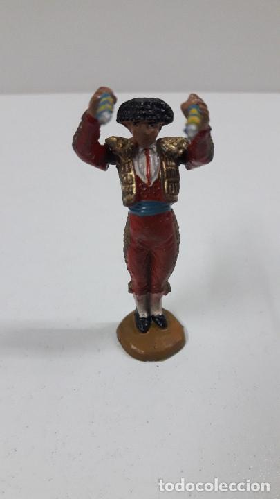 Figuras de Goma y PVC: BANDERILLERO . REALIZADO POR TEIXIDO . ORIGINAL AÑOS 50 EN GOMA - Foto 3 - 218532141