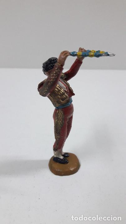 Figuras de Goma y PVC: BANDERILLERO . REALIZADO POR TEIXIDO . ORIGINAL AÑOS 50 EN GOMA - Foto 8 - 218532141