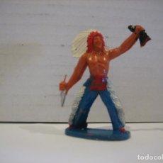 Figuras de Goma y PVC: FIGURA DE UN INDIO DE SOTORRES. Lote 218542497