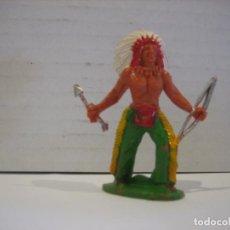 Figuras de Goma y PVC: FIGURA DE UN INDIO DE SOTORRES. Lote 218542510