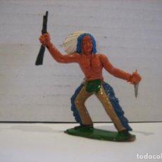 Figuras de Goma y PVC: FIGURA DE UN INDIO DE SOTORRES. Lote 218542515