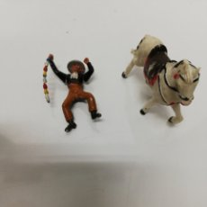 Figuras de Borracha e PVC: FIGURAS TEIXIDO. LOTE REJONEADOR Y CABALLO.. Lote 218558746