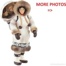 Figuras de Goma y PVC: BULLYLAND INUIT ESKIMO WOMAN WITH CHILD - VERY RARE RETIRED DISCONTINUED NEW W/ TAGS 54553. Lote 218580111