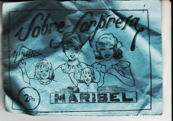 LOTE A- SOBRE SORPRESA AÑOS 60-70 TIPO MONTAPLEX (Juguetes - Figuras de Goma y Pvc - Montaplex)