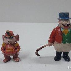 Figuras de Goma y PVC: EL MAESTRO DE CEREMONIAS Y TIMOTEO . PERSONAJES DE DUMBO . REALIZADOS POR PECH . ORIGINAL AÑOS 50. Lote 218708292
